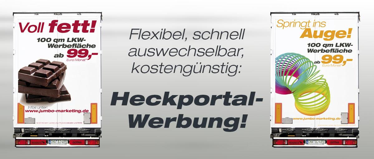 Heckportal Werbung Dischner